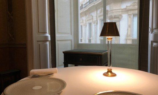 Il ristorante è al primo piano: 50 coperti, 3 sale e tavoli riservati con vista Galleria