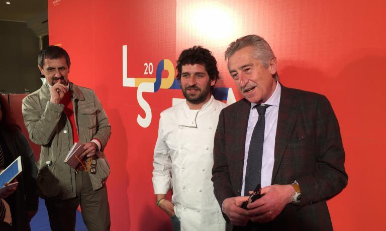 Perdomo con Antonio Lucisano