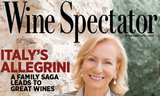 Prima donna italiana ad aver ricevuto la copertina di Wine Spectator