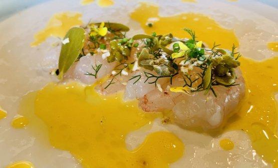 Gamberi con salsa d'uovo al limone diPaolo Barrale