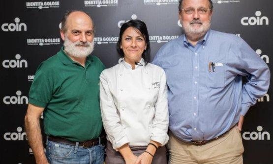 Bianca Celano, con Corrado Assenza e Paolo Marchi