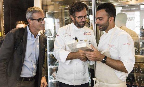 Riccardo Felicetti, Carlo Cracco e Luca Pedata