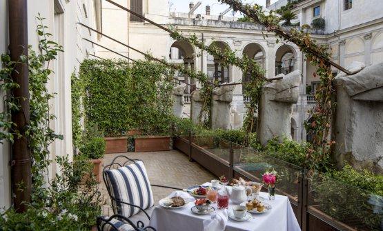 Hotel Vilòn, colazione in terrazza