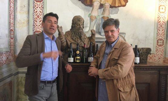 Giacomo Mojoli (a destra) con Aldo Rainoldi, presidente del consorzio