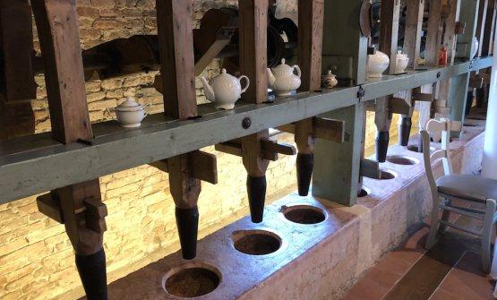 Il vecchio mulino per la pilatura del riso, contenuto nel ristorante