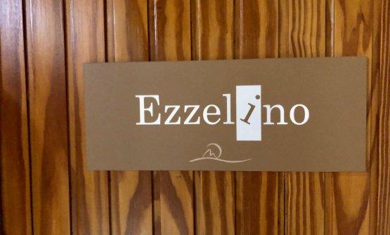 """L'insegna fuori da Ezzelino, la sala """"gourmet"""" del Miramonti.Prevede menu degustazione da 39 e65 euro"""