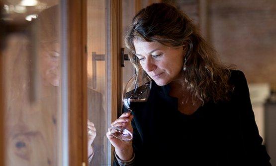 Valeria Radici Odero all'interno di Villa Odero
