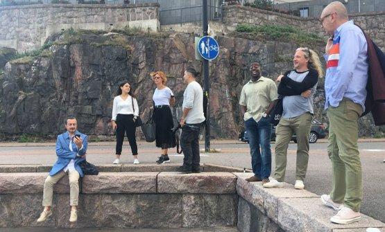 Una foto che ritrae alcuni dei professionisti che hanno partecipato a Sauce a Helsinki