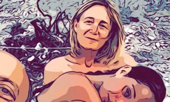 Mariella Organi con il marito Moreno Cedroni e la