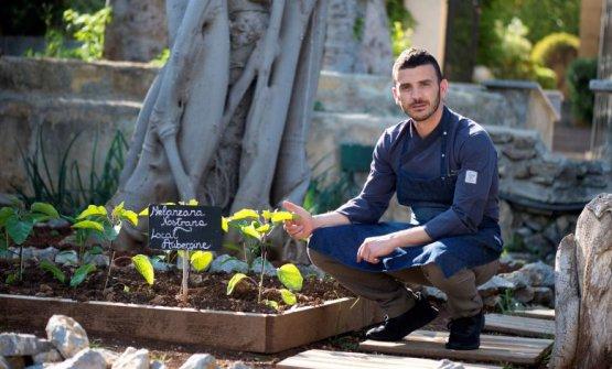 Carmelo Trentacosti, talentuosissimo chef dellaCuvée du Jour di Villa Igiea