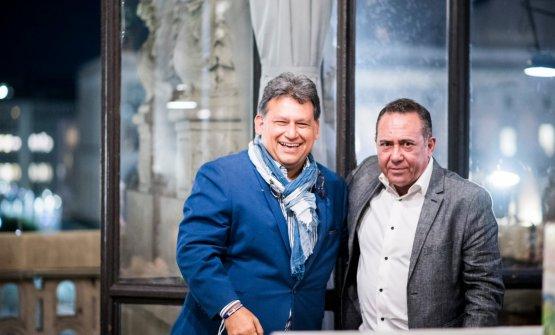 Mauricio Solórzano, globalbrand ambassadordi Flor de Caña, con Dom Costa, mixology manager di Velier