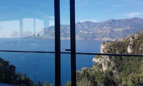 La vista dalle finestre del ristorante