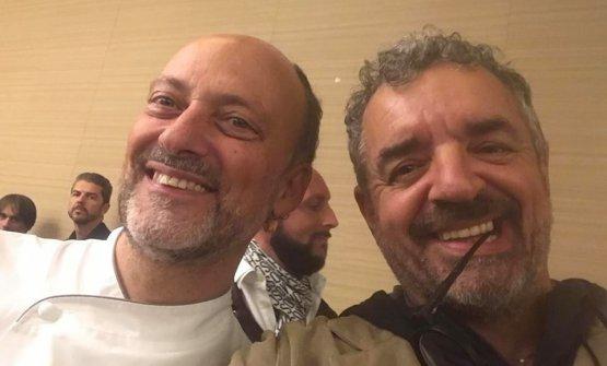 Selfie con il concittadinoMoreno Cedroni