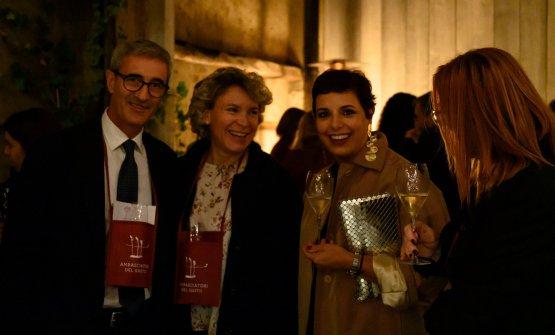 Riccardo Felicetti con signora e Francesca Barberini