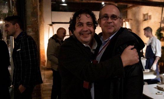 Gianluca Fusto e il professor Davide Cassi