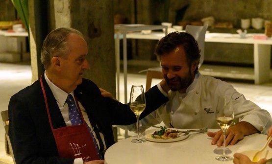 Aimo Moroni con Carlo Cracco