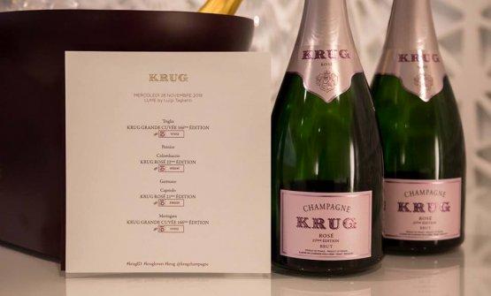 Il menu studiato da Luigi Taglienti per la prima serata targata Krug da LUME ha raccontato della sua passione per la selvaggina. Non casualmente abbinata al più giovame, anticonformista e indisciplinato degli champagne della Maison, il Rosè