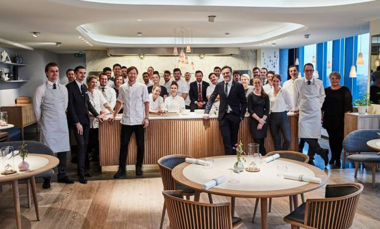 The dining room and kitchen team at Geranium