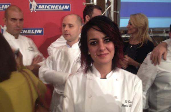 RED STARS. Ilaria Di Marzio, chef at Le Tre Lune in Calenzano (Florence), new Michelin star. Italy is the country with the highest number of starred female chefs