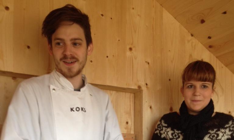 Lo chef del Koks Poul Andrias Ziska, 25 anni, faroese e la sommelierKarin Visth, svizzera (foto Zanatta)