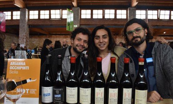 Gian Marco Iannello, già sommelier del ristorante Il Crocifisso di Noto e oggi collaboratore di Arianna Occhipinti e, a destra, Vittorio d'Angelo