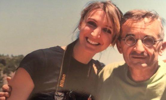 Claudia Del Frate con Michel Bras