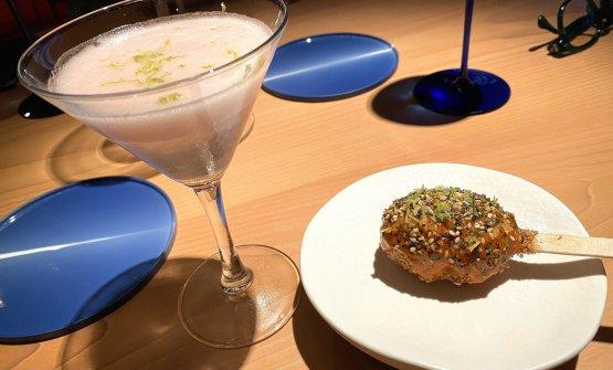 Chilcano e chela di gambero fritta, pairing felice aMarzocca(fotopassionegourmet.it)