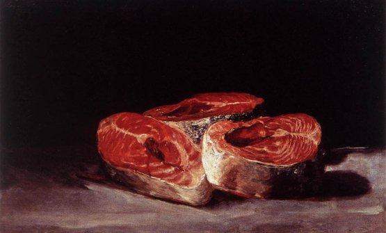 """Tranci di salmone"" (Francisco Goya, 1808-1812)"