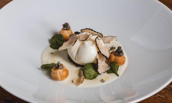 Uovo Poché, pecorino, spinacini e tartufo