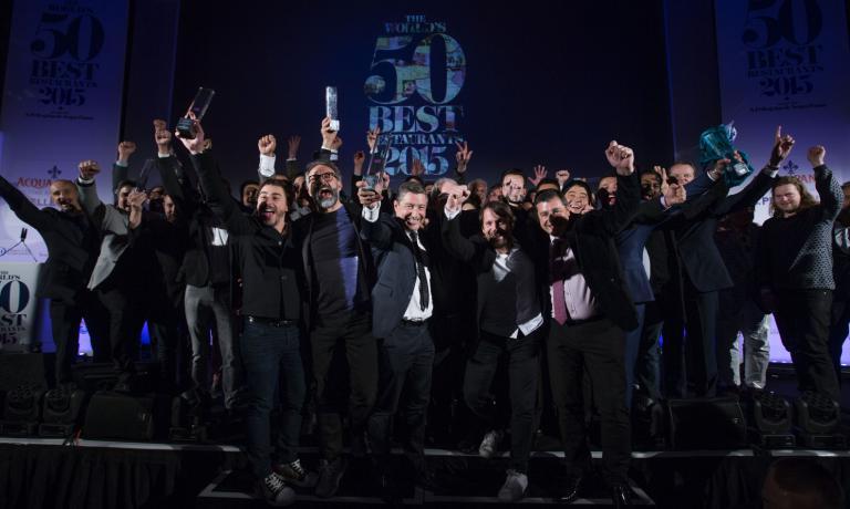 Il podio del 50 Best del 2015