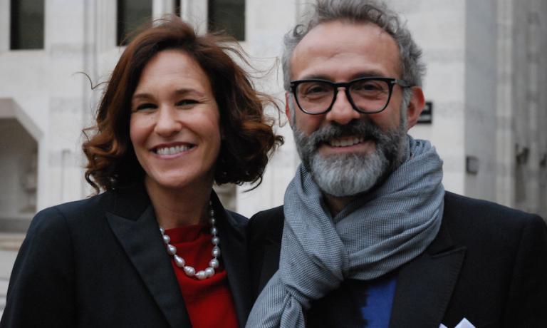 Lara Gilmore e Massimo Bottura a Londra per i World's 50 Best Restaurants