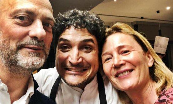 Moreno e Mariella con Mauro Colagreco