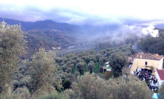 La veduta dall'alto di Villa Rossi