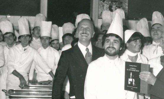 Una foto dei primi anni Ottanta: in primo piano Gi