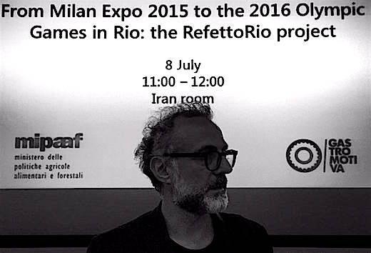 Massimo Bottura è stato tra i protagonisti, venerdì alla Fao, dell'incontro in cui l'organizzazione dell'Onu ha esplicitato il sotegno al progetto RefettoRio dello chef modenese, e in generale la sua intenzione di affiancare i grandi cuochi per insegnare una migliore alimentazione al mondo