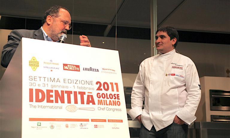 Mauro Colagreco a Identità Milano 2011 presentato da Paolo Marchi