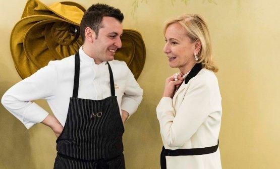 Michele Biassoni, chef di Iyo, con Marilisa Allegrini