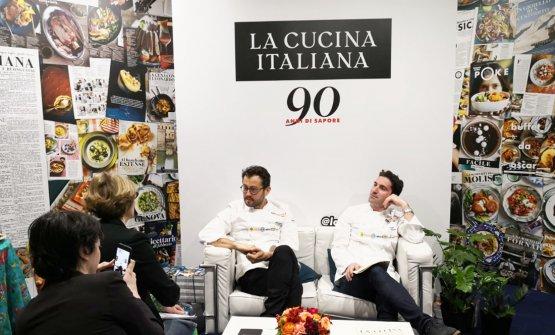 Interviste di Negrini-Pisani al termine della loro lezione a Identità Milano: qui negli studi di La Cucina Italiana...