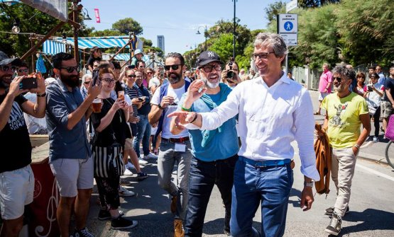 Bottura con il sindaco di Rimini, Andrea Gnassi