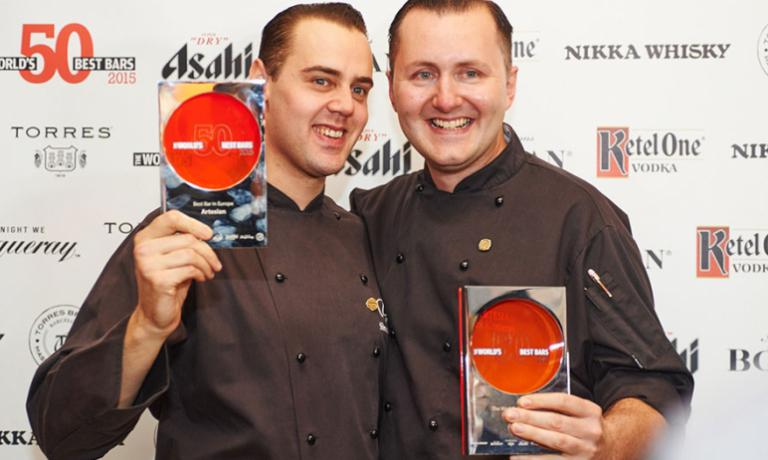 Simone Caporale and Alex Kratena crowned in 2015 for the fourth time in a row by World's 50 Best Bar Awards