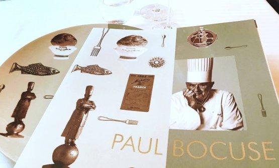 Il menu del ristorante Paul Bocuse, a Nord di Lion