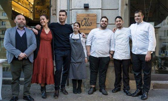 Il team di Olio - Cucina fresca, una delle aperture recenti più interessanti a Milano