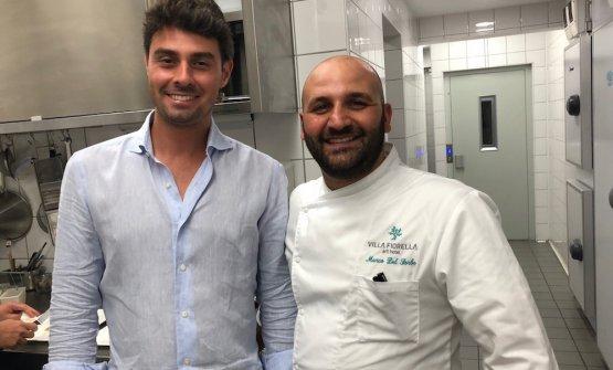Del Sorbo col direttore dell'hotel Alberto Colonna
