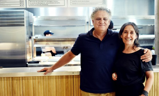 Carolina Colagreco and her husband Rafaél Lima, president at CARNE