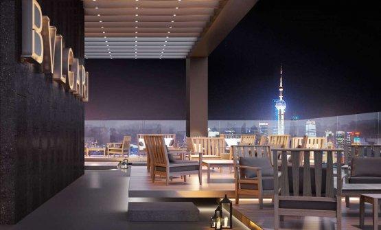 Il Bulgari Hotel di Shanghai. Apertura prevista, autunno 2017 come Pechino e Dubai. Nel 2019 è prevista anche l'apertura di Bulgari a Mosca