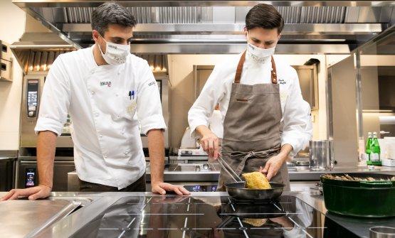 Con Simone Maurelli, resident chef di Identità Golose Milano