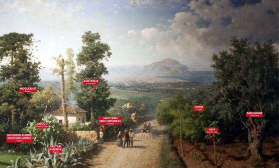 Veduta di Palermo, del pittore Francesco Lojacono. Rappresenta il main concept - Coltivare la coesistenza- di Manifesta12, la biennale di arte contemporanea tenutasi a Palermo lo scorso anno