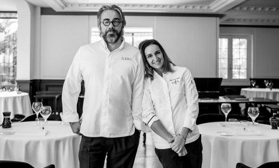 Con la sous chef di Miramonti l'Altro,Arianna Gatti