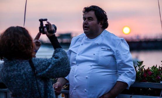 Gennaro Esposito fotografato in una delle serate d