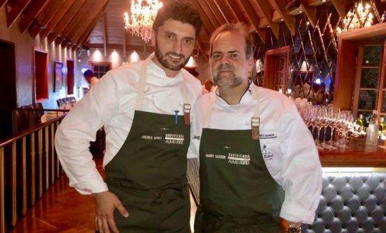 Andrea ApreaconHarry Sasson, importante cuoco